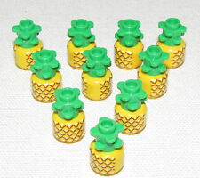 LEGO LOT OF 10 YELLOW PINEAPPLES FRUIT MINIFIGURE FOOD PIECES