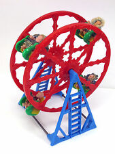 FERRIS WHEEL VINTAGE RARE 4 DOLL RIDERS DOLLHOUSE MINIATURE PLASTIC RENWAL!!!