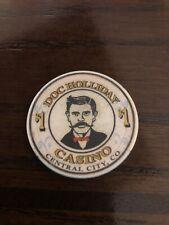 New listing $1 Doc Holliday Casino Chip Central City Colorado