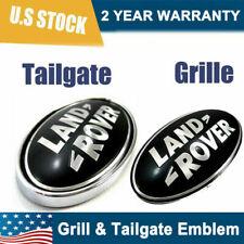 BLACK for Land Rover LR3 Discovery Freelander Grille/tail Gate Emblem Oval Badge