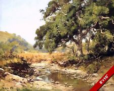 STREAM THROUGH THE CALIFORNIA VALLEY LANDSCAPE PAINTING ART REAL CANVAS PRINT