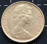 1971 AUSTRALIAN 5 CENT COIN