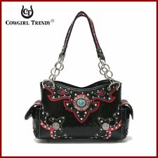 NWT COWGIRL TRENDY WESTERN CONCHO COLLECTION TOTE HANDBAG