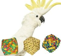 3423 Pk3 Natural Vine Pyramid Foot Talon Foraging Bird Toy