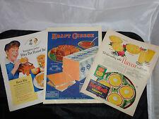 Vintage Magazine Ads, Kraft Cheese 1925, Peter Pan Peanut Butter 1950, Del Monte