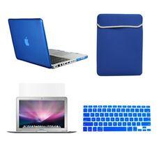 """4 in1 Rubberized ROYAL BLUE Case for Macbook PRO 15"""" Retina + Key Cover+LCD +Bag"""