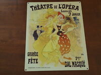 Large Vintage Style French Theatre Opera Picture Plaque Metal Sign A Nice Gift