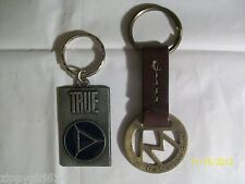 Marlboro and True Cigarettes Key Chains  Leather and Metal Used