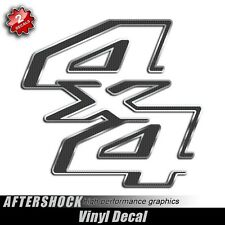 Carbon Fiber 4x4 Truck Body Decal Bedside Replacement Sticker Set for Ford F-250
