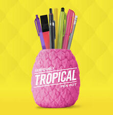 Pen Pencil Pot Stationery Holder Tropical Pineapple Desk Tidy Organiser Pink