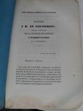 AYMARD RAPPORT SUR LA SITUATION DES MONUMENTS HISTORIQUES 1855 HAUTE-LOIRE
