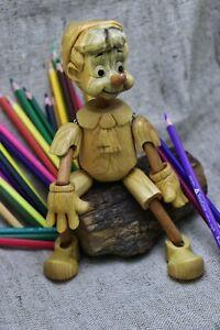 Toy. Doll. Pinocchio (Buratino). Handmade. Wood carving.