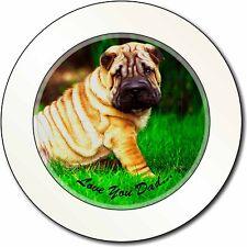Shar-Pei Dog 'Love You Dad' Car/Van Permit Holder/Tax Disc Gift, DAD-109T