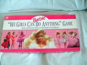 """Barbie Board Game """"We Girls Can Do Anything"""" Golden 1991"""