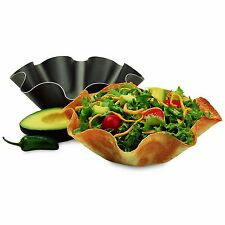 Perfect Bake & Serve Tortilla Pan - Non Stick Tortilla Bowl Maker - 4pc Set
