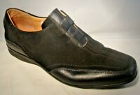 Eric Michael Womens Shoes EUR 39 US 9.5 Black Leather Slip On Rubber Sole