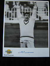 FRED TRUEMAN - Original signed photo_Westminster Collection_Genuine autograph