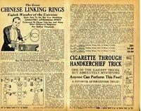 1940 small 2 Pg Ad Magic Chinese Linking Rings Chung Ling Soo Buddhist Swastika