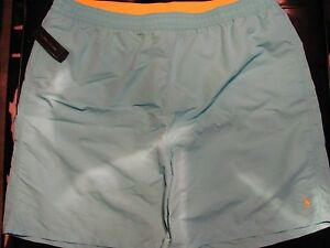 NEW 4XLT 4XT 4XL TALL Ralph Lauren POLO Swimsuit BABY BLUE w YELLOW PONY $65