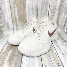 New listing Nike Women's Zoom Cage 3 Tennis Athletic Shoes Clay Leather Size 6