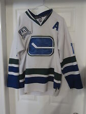 Ryan Kessler. 2010 40th Patch CCM RBK Pro Style Canucks Jersey.Stitched Size 48