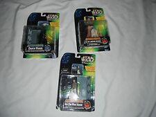 3 star wars 1996 electronic power r2-d2 ben kenobi darth vader new in boxes