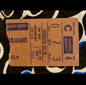 THE NEW BARBARIANS - KEITH RICHARDS - AT THE GARDEN - 5/7/1979 - 7TH ROW TICKET