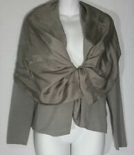Eileen Fisher Shawl Collar Tie Cardigan Sweater XS Extra Small  Stone Taupe NWT