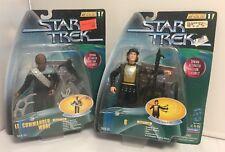 Star Trek Series 1 Warfactor LOT X2 LT Commander Worf/Q