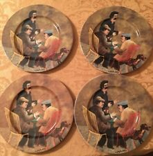 ESCHENBACH Porzellan Germany 4 Pc Decorative Plates