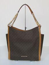 NEW Michael Kors  Newbury Brown Medium Chain Shoulder Tote Handbag Purse