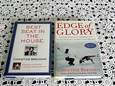 Edge of Glory and Best Seat in the House by Christine Brennan SIGNED 1st Ptg HC