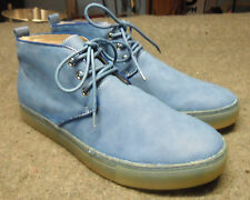 ARTISTRY California Mens Casual Blue Faux Suede Canvas Shoes Size 9 US / 43 Euro