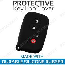Key Fob Cover for 2010-2012 Lexus HS250 Remote Case Rubber Skin Jacket