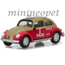 GREENLIGHT 29890 F VW VOLKSWAGEN BEETLE 1/64 MEXICO CITY TAXI CAB RED / GOLD