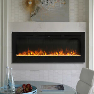 """50"""" INSET HANGING LED DIGITAL DISPLAY FIREPLACE WALL RECESS/MOUNTE ELECTRIC FIRE"""