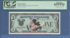 "1987 $1 D  Mickey Disney Dollar  ""SCROLL DOWN FOR SCANS"""
