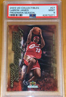 POP 5🔥2003 LeBron James UPPER DECK FRESHMAN SEASON BOX SET ROOKIE #27 PSA 9 BGS