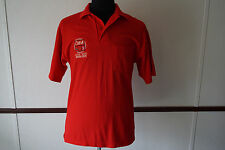 Vintage King Louie Made in USA CWA Local 13000 Mobilizer M Polo Shirt Red