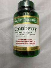 Nature's Bounty Cranberry Dietary Supplement 60 Soft Gels 7/20