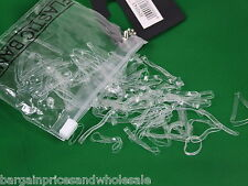 100pcs Clear Large Poly Rubber Braiding Plaits Hair Elastic Bands 37mm