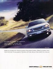 2002 Chevrolet Impala LS 200hp Original Advertisement Car Print Ad J348