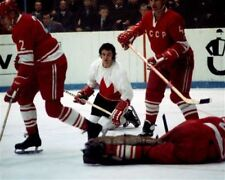 Rod Gilbert Team Canada 1972 Summit Series Game Auction 8x10 Photo