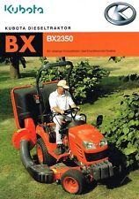 Kubota Dieseltraktor BX 2350, orig. Prospekt 2006