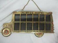 NICE Vintage SOLID BRASS School Days School Bus Frame K Thru 12