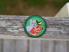Girl Scouts Two Embroidered Patches Badge Pet Care Cat Dog Bird Animal 1 1/2""