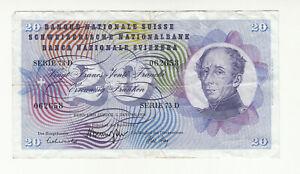 Switzerland 20 francs 1970 circ. @ low start