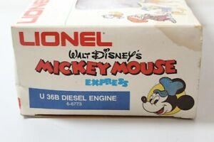 LIONEL 1977 U36B 6-8773 WALT DISNEY'S MICKEY MOUSE EXPRESS DIESEL ENGINE USED