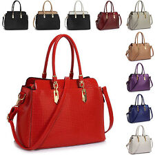Large Patent Shine Ladies Tote Designer PU Leather Women Shoulder Cross Body Bag