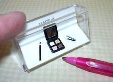 Miniature Amazing Makeup - Eyeshadow Compact/Eye Liner Pencil: DOLLHOUSE 1/12